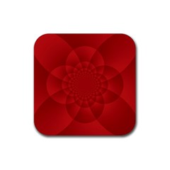 Psychedelic Art Red  Hi Tech Rubber Coaster (Square)