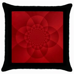 Psychedelic Art Red  Hi Tech Throw Pillow Case (black)