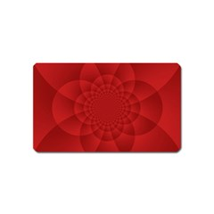 Psychedelic Art Red  Hi Tech Magnet (name Card)