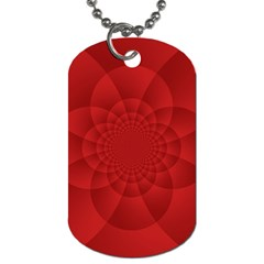 Psychedelic Art Red  Hi Tech Dog Tag (one Side)