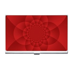 Psychedelic Art Red  Hi Tech Business Card Holders