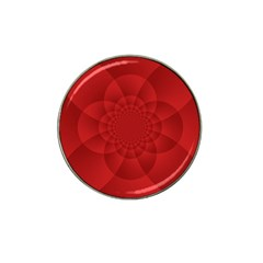 Psychedelic Art Red  Hi Tech Hat Clip Ball Marker