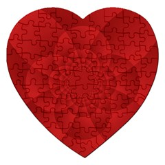 Psychedelic Art Red  Hi Tech Jigsaw Puzzle (heart)