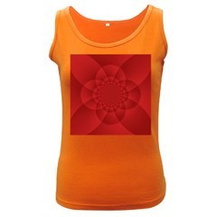 Psychedelic Art Red  Hi Tech Women s Dark Tank Top