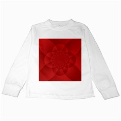 Psychedelic Art Red  Hi Tech Kids Long Sleeve T Shirts
