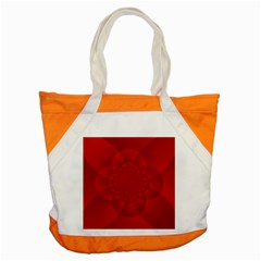 Psychedelic Art Red  Hi Tech Accent Tote Bag