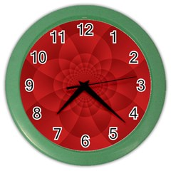 Psychedelic Art Red  Hi Tech Color Wall Clocks