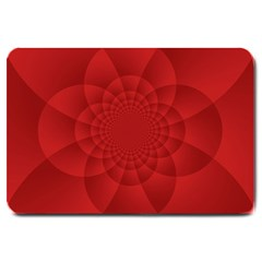Psychedelic Art Red  Hi Tech Large Doormat