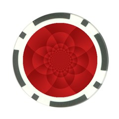 Psychedelic Art Red  Hi Tech Poker Chip Card Guard