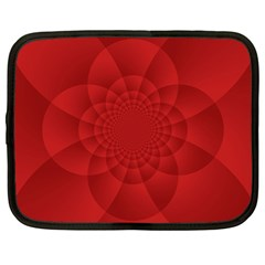 Psychedelic Art Red  Hi Tech Netbook Case (Large)