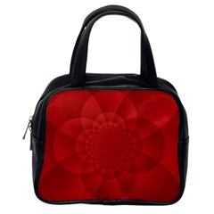 Psychedelic Art Red  Hi Tech Classic Handbags (One Side)