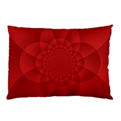 Psychedelic Art Red  Hi Tech Pillow Case