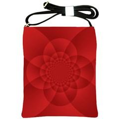 Psychedelic Art Red  Hi Tech Shoulder Sling Bags