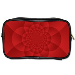 Psychedelic Art Red  Hi Tech Toiletries Bags