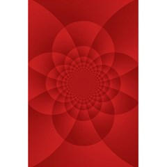 Psychedelic Art Red  Hi Tech 5.5  x 8.5  Notebooks