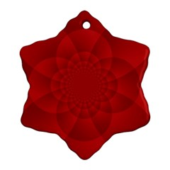 Psychedelic Art Red  Hi Tech Snowflake Ornament (two Sides)