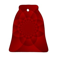 Psychedelic Art Red  Hi Tech Bell Ornament (two Sides)