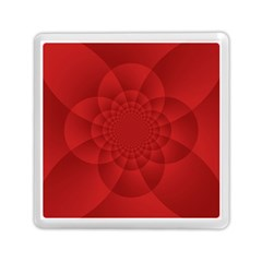 Psychedelic Art Red  Hi Tech Memory Card Reader (square)