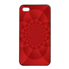 Psychedelic Art Red  Hi Tech Apple Iphone 4/4s Seamless Case (black)