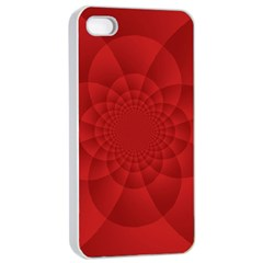 Psychedelic Art Red  Hi Tech Apple Iphone 4/4s Seamless Case (white)