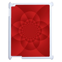 Psychedelic Art Red  Hi Tech Apple Ipad 2 Case (white)