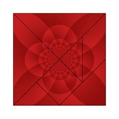 Psychedelic Art Red  Hi Tech Acrylic Tangram Puzzle (6  X 6 )