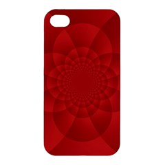 Psychedelic Art Red  Hi Tech Apple Iphone 4/4s Premium Hardshell Case