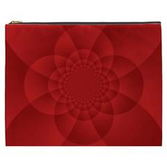 Psychedelic Art Red  Hi Tech Cosmetic Bag (xxxl)