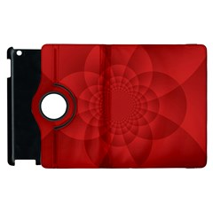 Psychedelic Art Red  Hi Tech Apple Ipad 2 Flip 360 Case