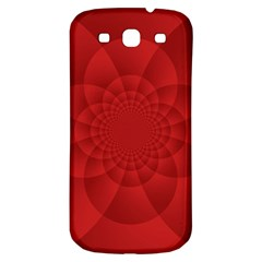 Psychedelic Art Red  Hi Tech Samsung Galaxy S3 S Iii Classic Hardshell Back Case