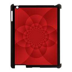Psychedelic Art Red  Hi Tech Apple Ipad 3/4 Case (black)