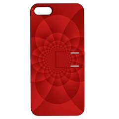 Psychedelic Art Red  Hi Tech Apple Iphone 5 Hardshell Case With Stand