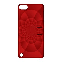 Psychedelic Art Red  Hi Tech Apple iPod Touch 5 Hardshell Case with Stand