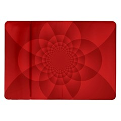 Psychedelic Art Red  Hi Tech Samsung Galaxy Tab 10 1  P7500 Flip Case