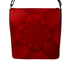Psychedelic Art Red  Hi Tech Flap Messenger Bag (l)