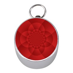 Psychedelic Art Red  Hi Tech Mini Silver Compasses