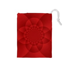 Psychedelic Art Red  Hi Tech Drawstring Pouches (medium)