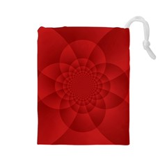 Psychedelic Art Red  Hi Tech Drawstring Pouches (large)