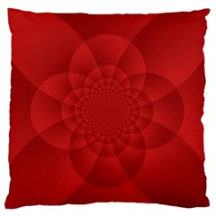 Psychedelic Art Red  Hi Tech Large Flano Cushion Case (one Side)