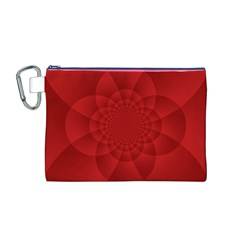 Psychedelic Art Red  Hi Tech Canvas Cosmetic Bag (m)