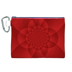 Psychedelic Art Red  Hi Tech Canvas Cosmetic Bag (xl)