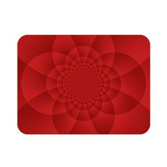 Psychedelic Art Red  Hi Tech Double Sided Flano Blanket (mini)