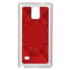 Psychedelic Art Red  Hi Tech Samsung Galaxy Note 4 Case (white)