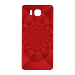 Psychedelic Art Red  Hi Tech Samsung Galaxy Alpha Hardshell Back Case