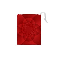 Psychedelic Art Red  Hi Tech Drawstring Pouches (xs)