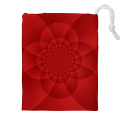 Psychedelic Art Red  Hi Tech Drawstring Pouches (xxl)