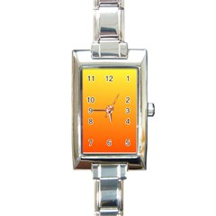 Rainbow Yellow Orange Background Rectangle Italian Charm Watch