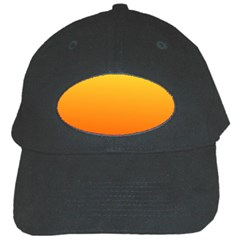 Rainbow Yellow Orange Background Black Cap