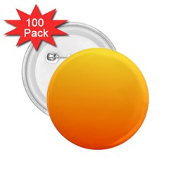 Rainbow Yellow Orange Background 2.25  Buttons (100 pack)