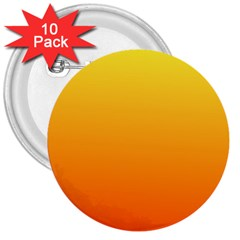 Rainbow Yellow Orange Background 3  Buttons (10 Pack)